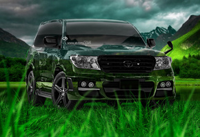 Tony Kokhan, Toyota, Land Cruiser, JDM, Crystal, Nature, Green, Grass, Jeep, Style, Design, Art, el Tony Cars, Photoshop, HD Wallpapers, ���� �����, �������, �����, ���, ������, ���� ������, ������, �������, ����������, ����, ����������, ����, �������, ��