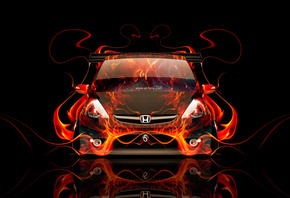 Tony Kokhan, Honda, Fit, Fire, Car, JDM, Tuning, Front, el Tony Cars, HD Wallpapers, Photoshop, Design, Art, Style, Flame, ���� �����, �������, �����, �����, ���, ��������, ������, ��������, ����, �����, �����, �������, ����, ���, 2014, ��� �������, �����