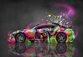 Tony Kokhan, Mazda, RX8, JDM, Side, Multicolors, Aerography, Abstract, Style, Domo Kun, Toy, Pink, Neon, HD Wallpapers, el Tony Cars, Art, Design, ���� �����, �������, �����, �����, ��8, ����������, ��������, �������, ��� �����, ������������, ������, ����