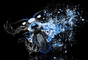 Tony Kokhan, Moto, Suzuki, GSX, R1000, Back, Water, Bike, Ice, Shot, Style, Blue, Azure, Colors, Neon, el Tony Cars, Photoshop, HD Wallpapers, ���� �����, ����, ��������, ������, ��� �����, ����, ���, ����, ������, ���, ����, �������, ����, ����, ���, 201