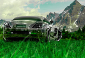 Tony Kokhan, Mercedes-Benz, SLR, McLaren, Crystal, Nature, Car, Green, Grass, Tuning, Mercedes, el Tony Cars, Photoshop, HD Wallpapers, Design, Art, Style, Auto, ���� �����, �������, ��������-����, ��������, ���, ��������, ����������, ������, ����������,