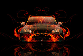 Tony Kokhan, Honda, S2000, Front, Fire, Abstract, Car, Orange, Flame, Black, el Tony Cars, Japan, Auto, HD Wallpapers, Design, Art, Style, Photoshop, ���� �����, �������, �����, �2000, ��� �������, ��������, ������, ��������, ����, ����, ���, �����, �����