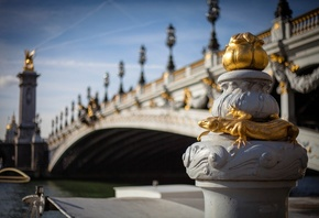 Pont Alexandre III, Paris, France, Мост Александра III, Париж, Франция, рек ...