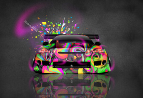 Tony Kokhan, Toyota, Soarer, JDM, Tuning, Front, Abstract, Aerography, Multicolors, Pink, Neon, Domo Kun, Toy, Car, el Tony Cars, Photoshop, Design, Art, Style, HD Wallpapers, Japan, Auto, ���� �����, �������, ������, ������, ������, ��� �������, ��������