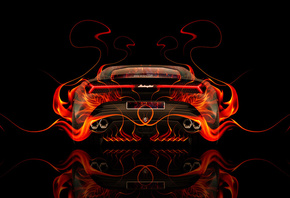 Tony Kokhan, Lamborghini, Asterion, Supercar, Hybrid, Back, Fire, Car, Abstract, Flame, Orange, Auto, HD Wallpapers, el Tony Cars, Photoshop, Design, Art, Style, Black, ���� �����, �������, ����������, ��������, ��� �����, �����, ��������, ������, �������