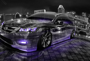 Tony Kokhan, Honda, Accord, JDM, Tuning, Crystal, City, Fish Eye, Violet, Neon, Design, Art, Style, Japan, Car, V6, Photoshop, HD Wallpapers, Creative, ���� �����, �������, �����, ������, ������, ����������, ������, ����������, ����, ����, ���, �����, ���