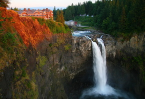 USA, waterfalls, Snoqualmie crag, ���, �������, �����, ���, �������, ������