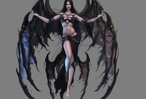 аниме, Темный ангел, Фэнтези, 3d
