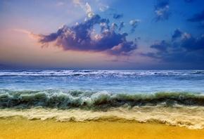 море, пляж, небо