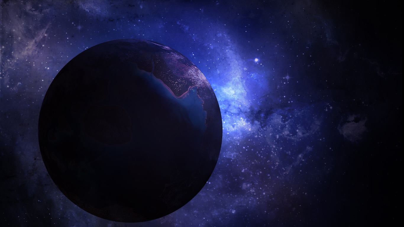 purple and blue planets - photo #10
