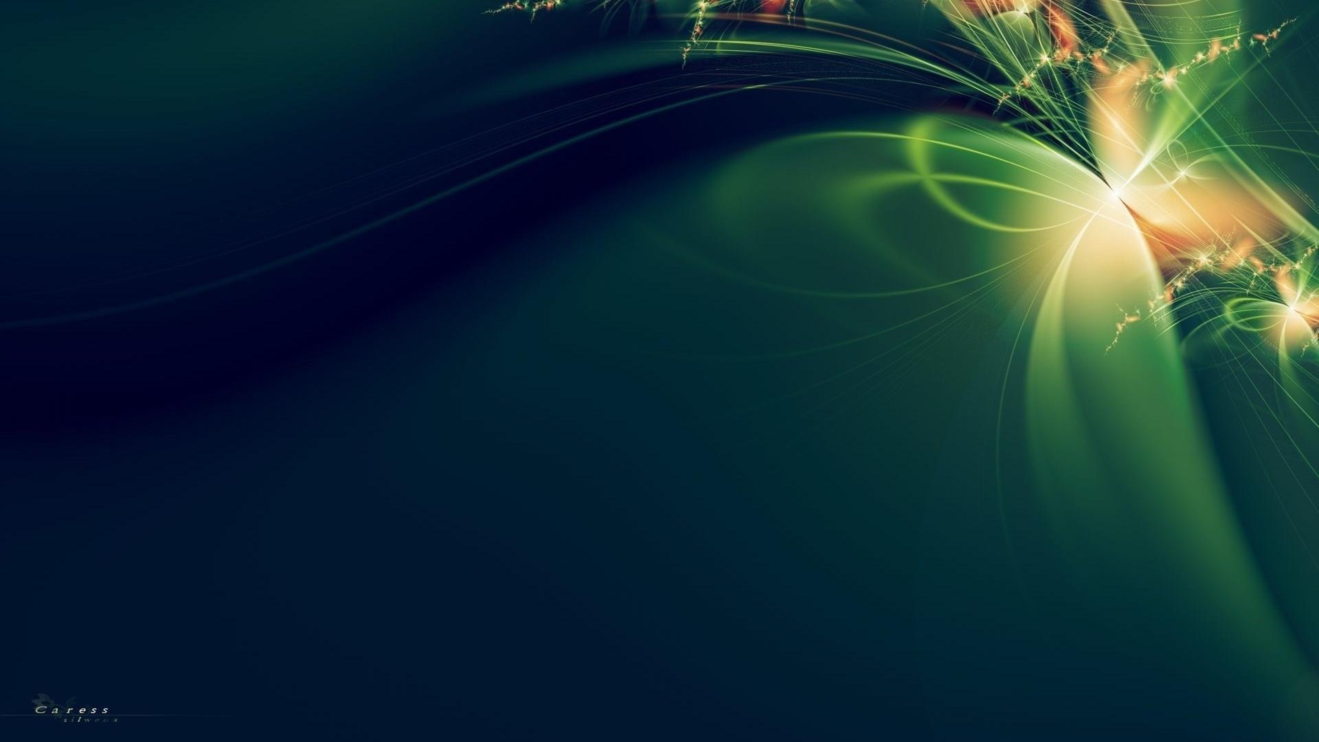 Fondos De Pantalla De Color Verde Oscuro Cinta Naranja Flores 3d ...