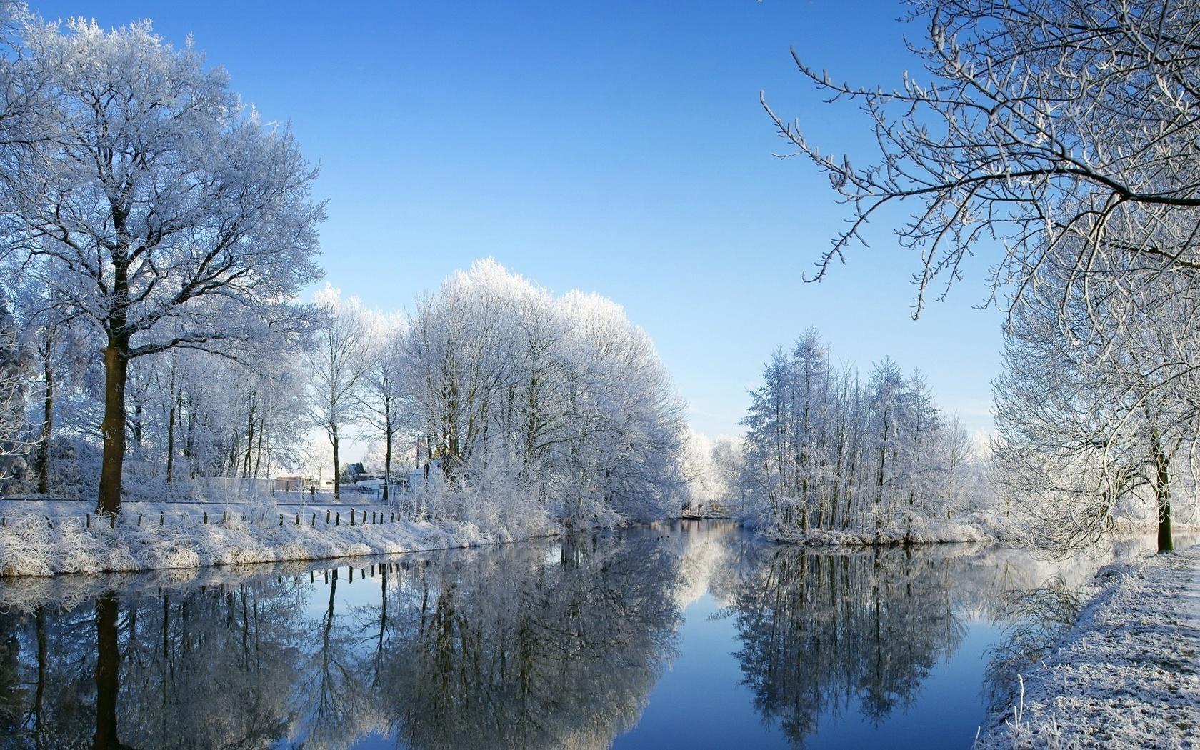 Зима в зоне тундры