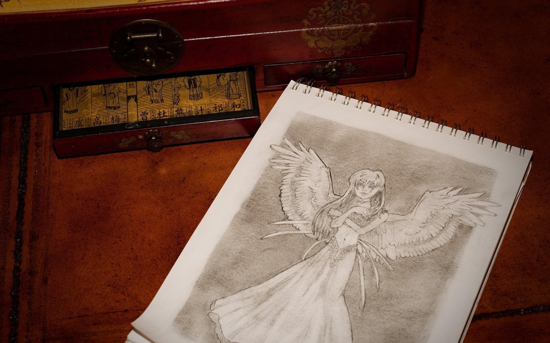 аниме рисунки ангелов карандашом: