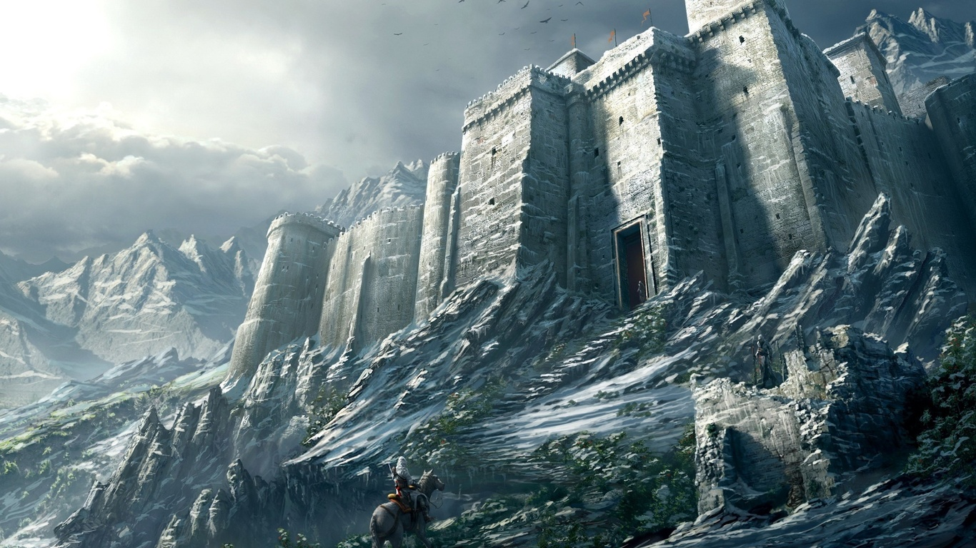 Fantasy Mountain Fortress Hd fortress wallpapers