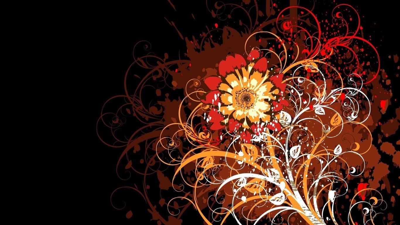 Hd duvar kağıtları vektör çiçek desen renkli dantelli