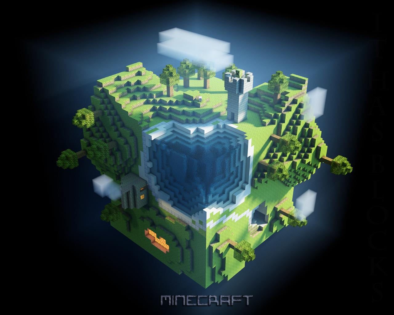 Pantalla de juegos cubos mundo minecraft juegos fotos 1280x1024