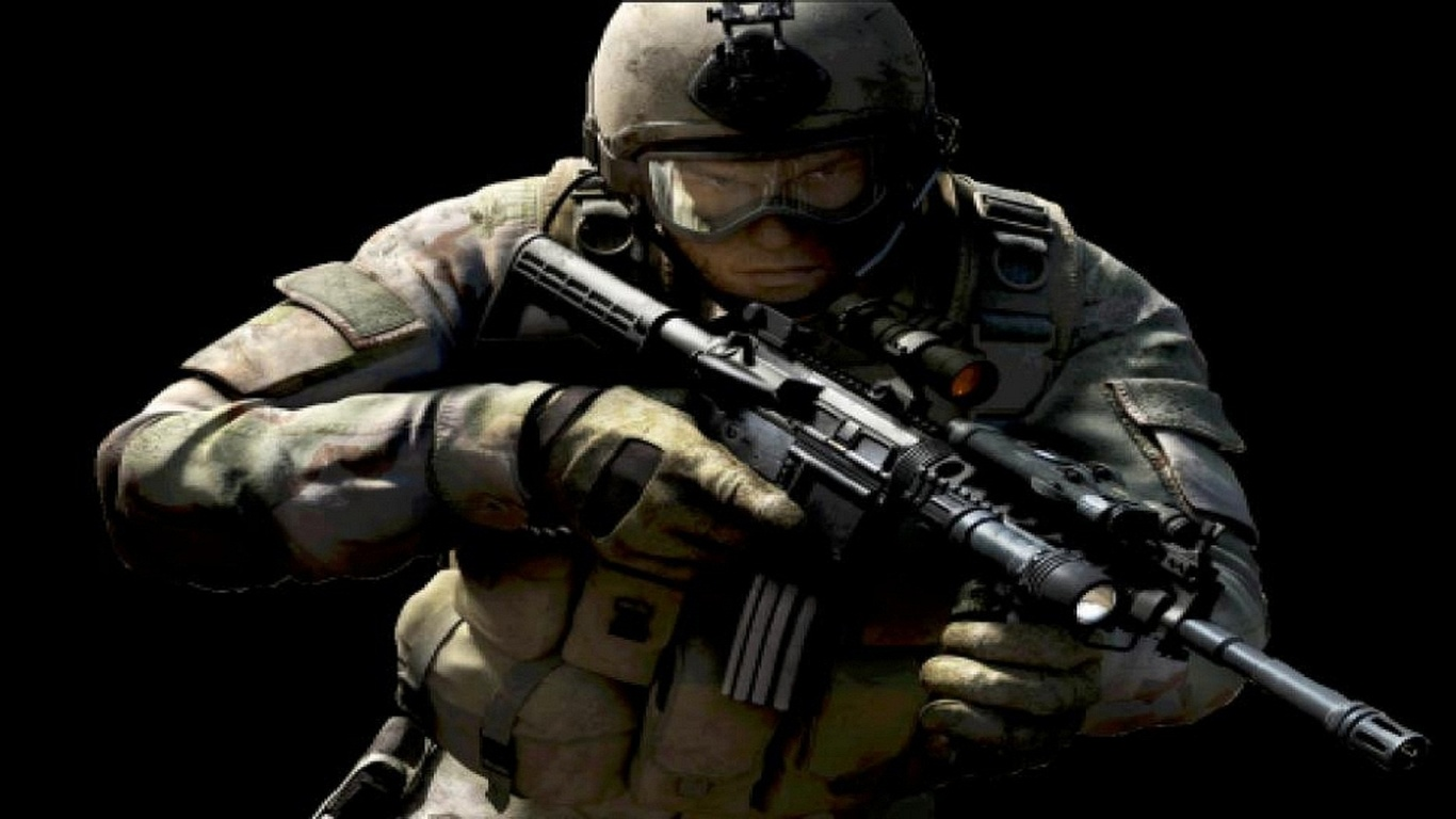 wallpapers soldier with a gun counter strike fantasy photo on the HD Wide Wallpaper for Widescreen