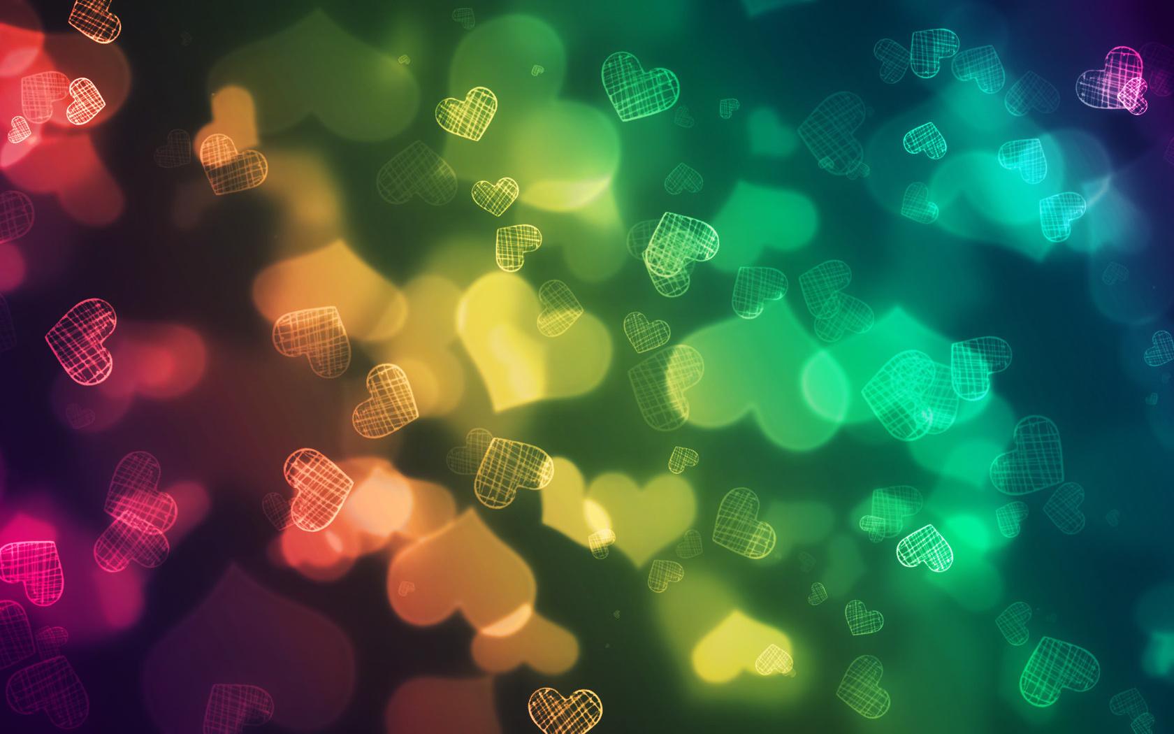 corazones de colores fondo - photo #11