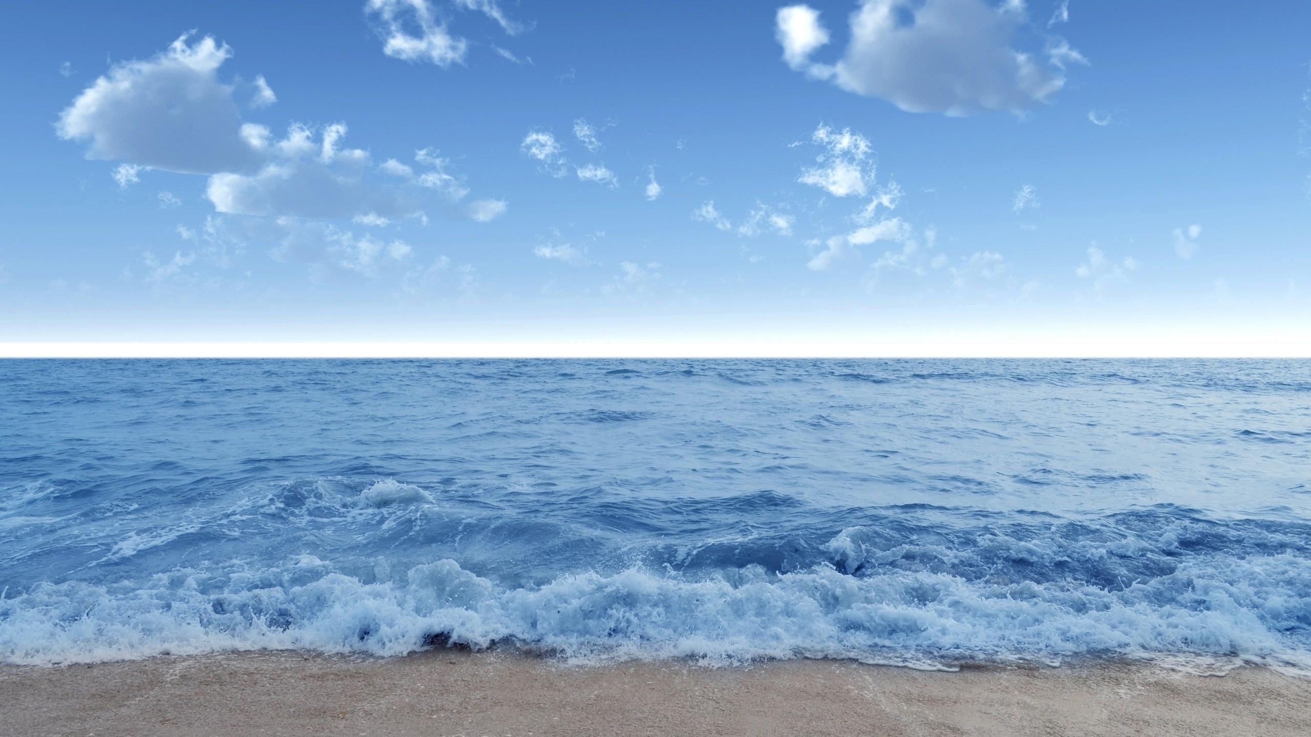 de pantalla del mar, ola, ola, agua, costa, playa, arena, cielo, azul