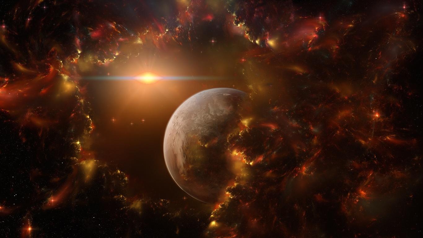 Duvar kağıtları gezegen parlayan yıldız fantastik space space