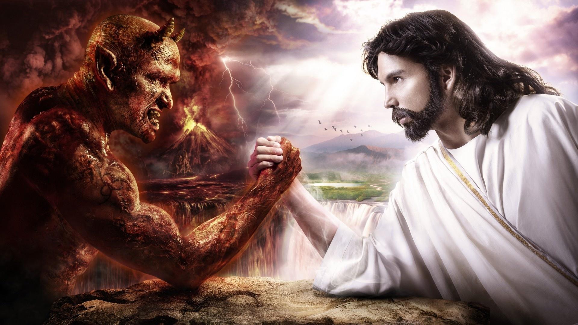 фентези, дьявол, бог, добро, зло, борьба ...: www.nastol.com.ua/download/41060/1920x1080
