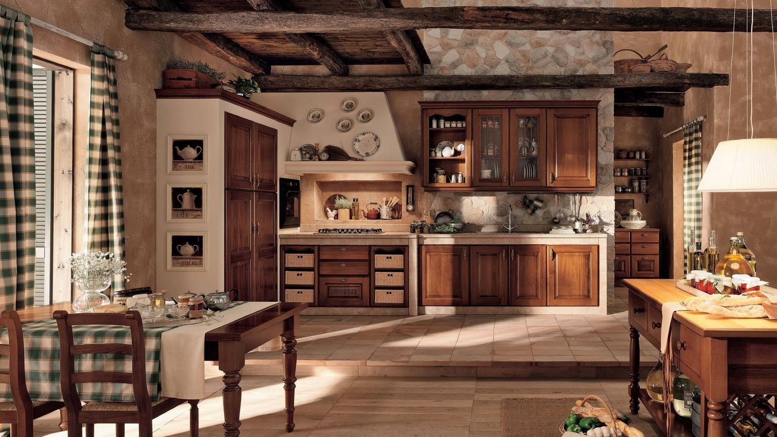 Интерьер кухни в доме фото