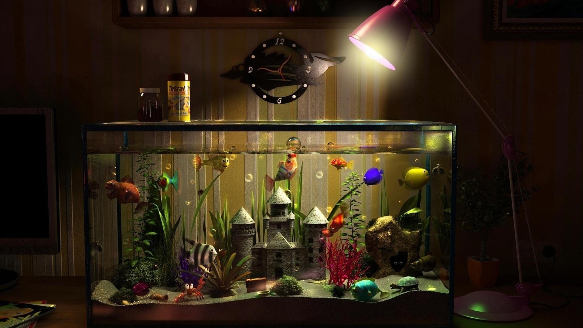 живые обои аквариум на рабочий стол для планшета