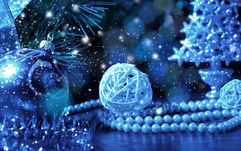 Картинки елка, мишура, украшения, мерцание, лента, новый год, радость - обои 1440x900, картинка 73246