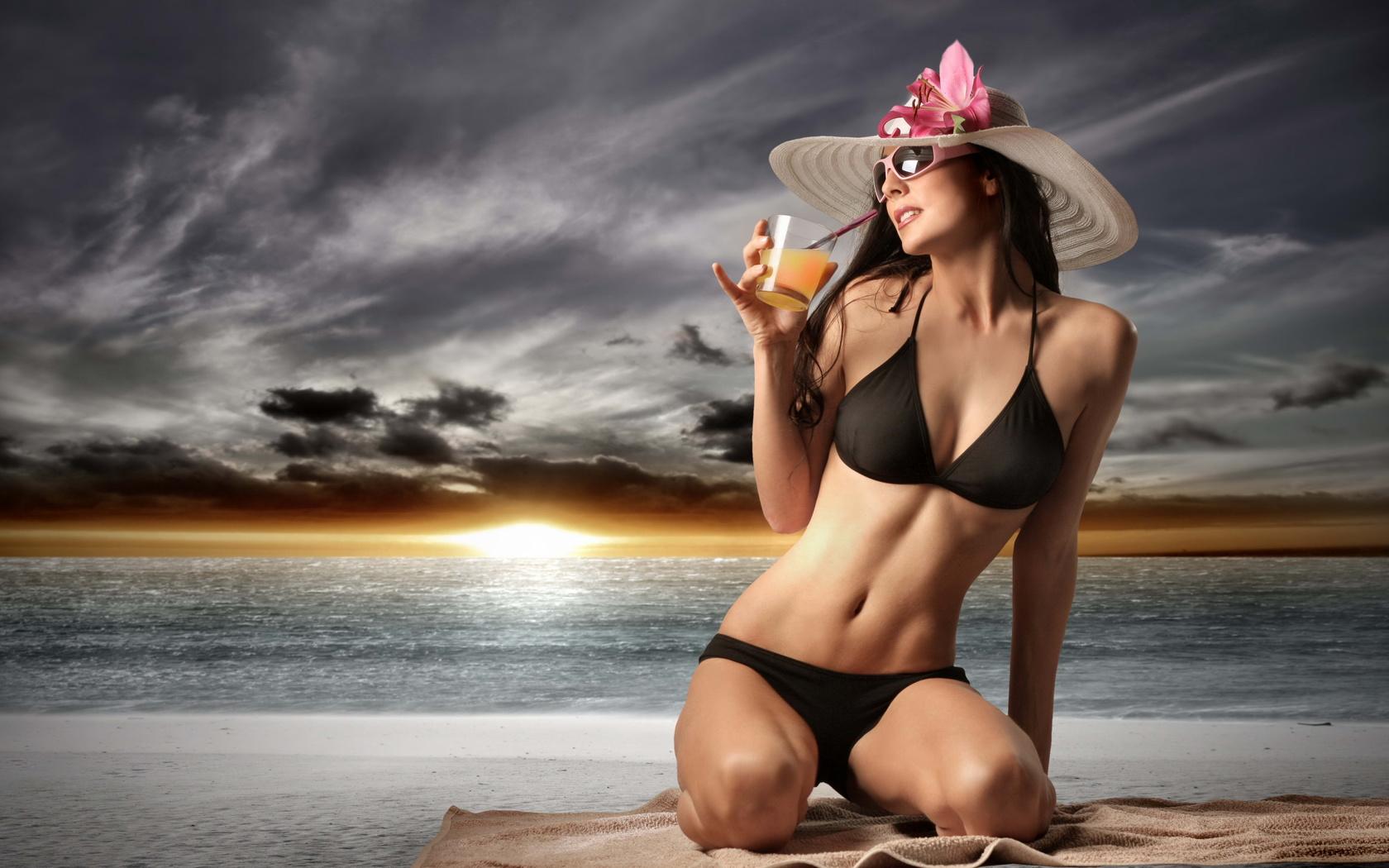 Солнце пляж девушки 9 фотография