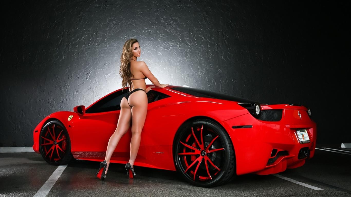 Красивые спортивные автомобили и девушки фото