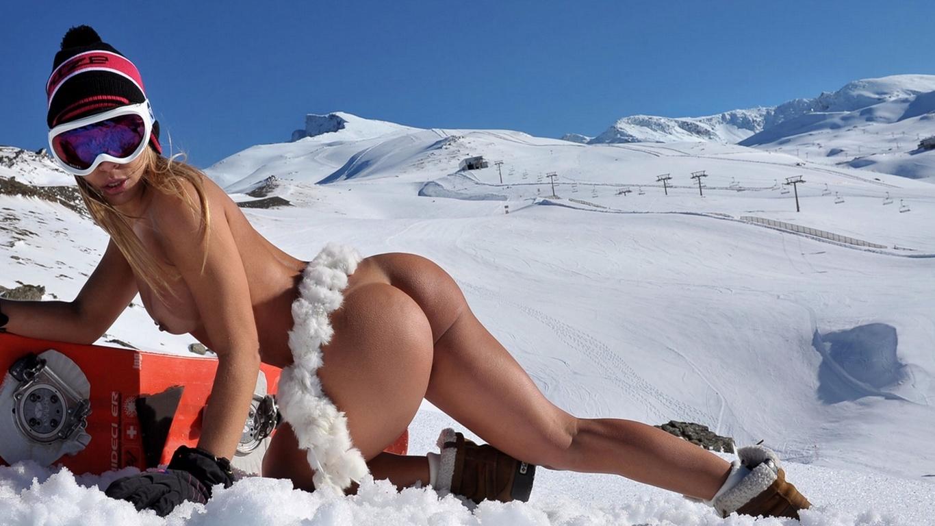Секси девушки на лыжах 27 фотография