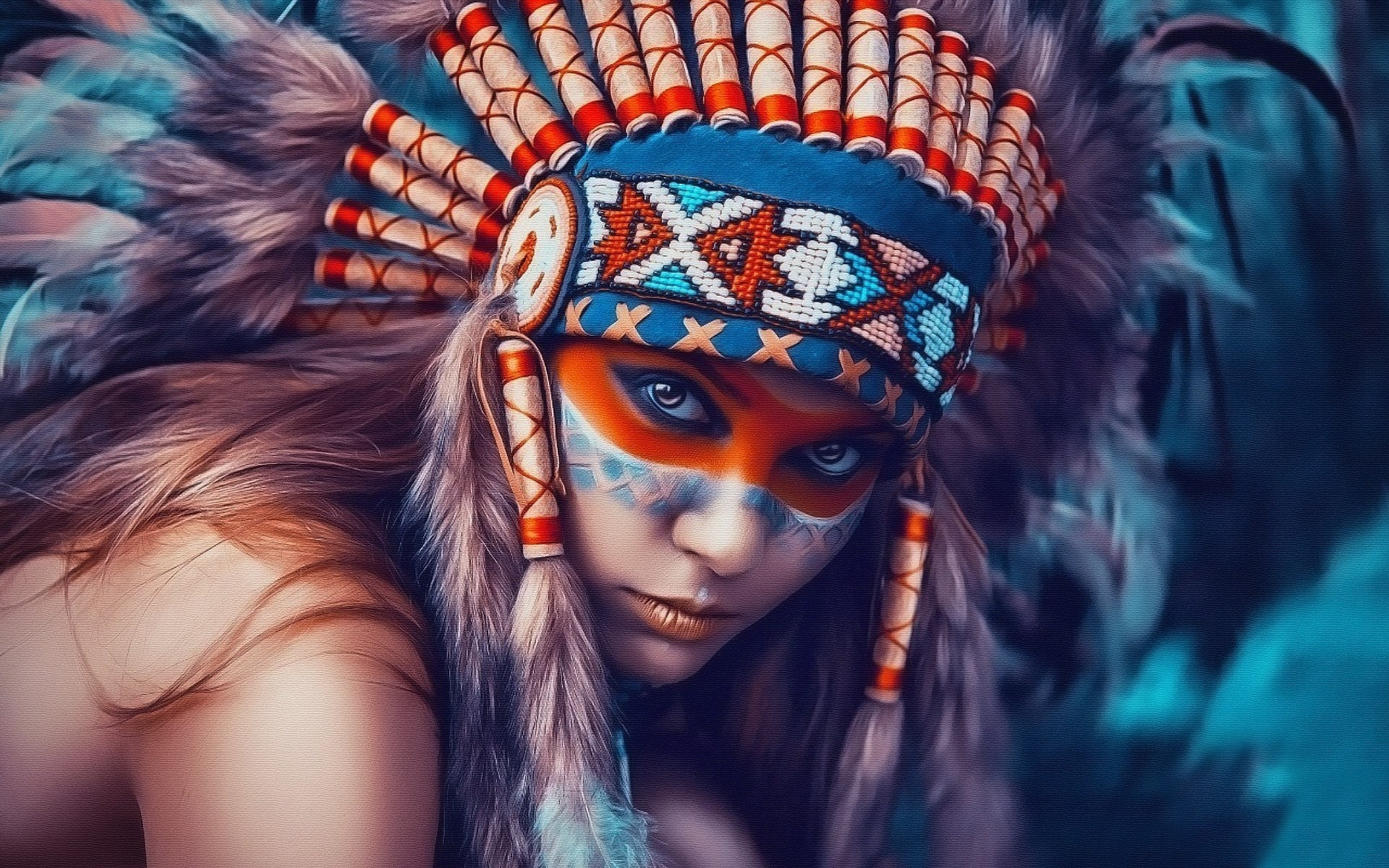 Рисунки девушек индейцев