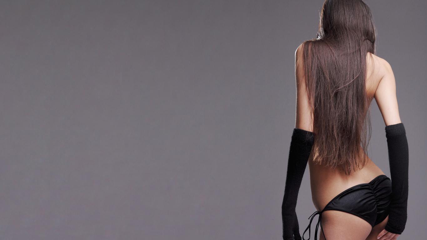 Фото шатенок девушек со спины 10 фотография