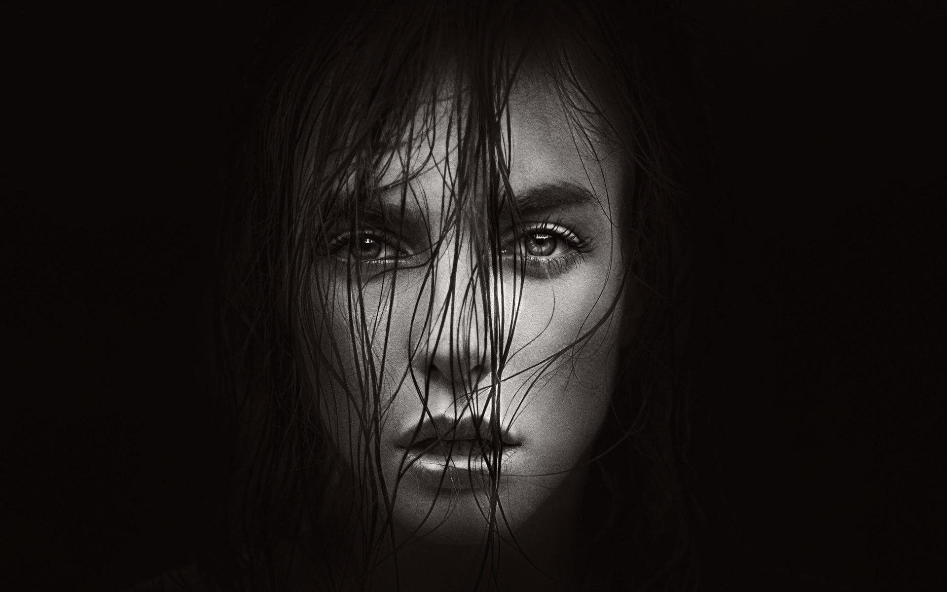 Черно белое креативное фото девушек 8 фотография