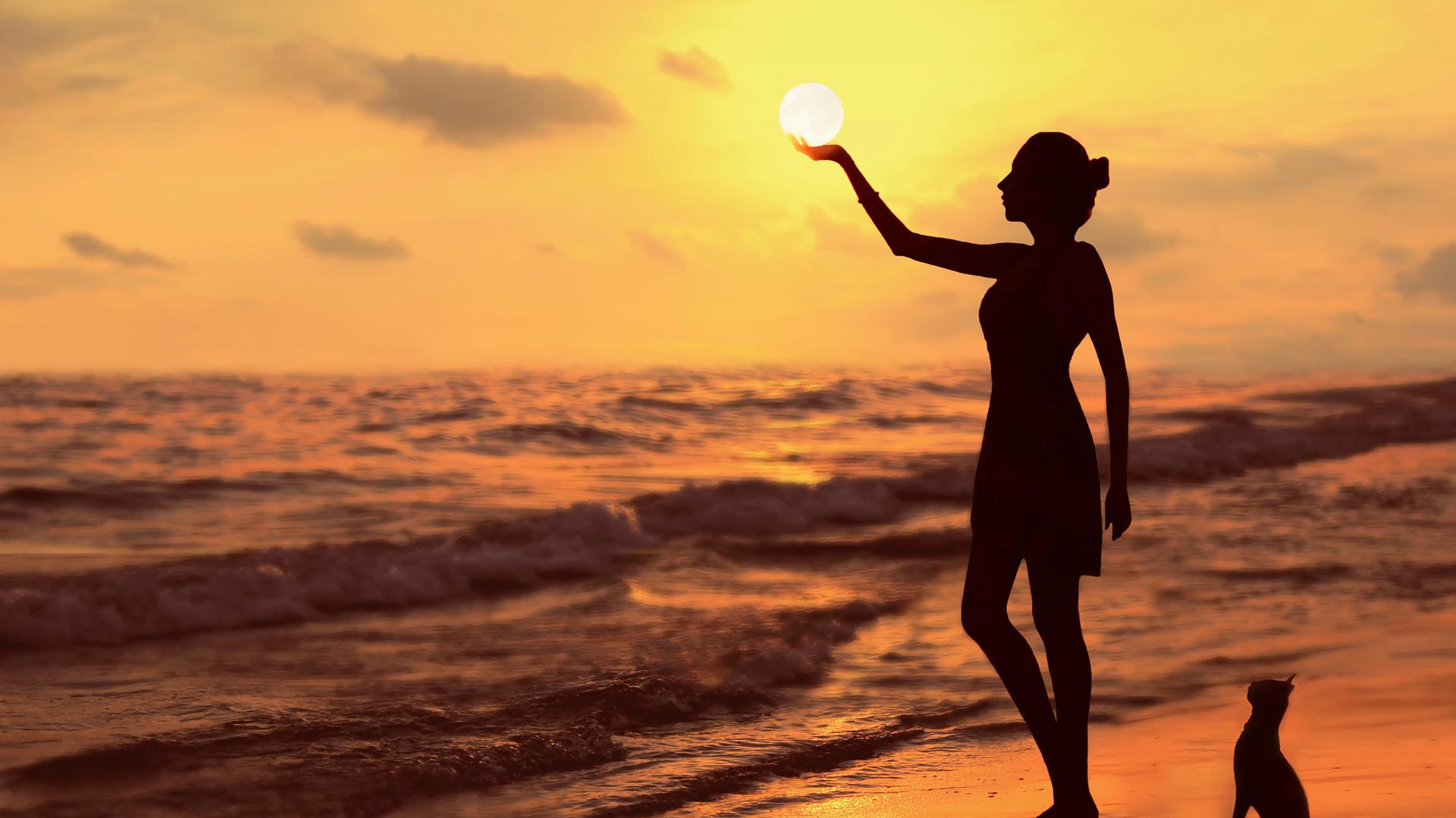 Фото девушек солнце море пляж