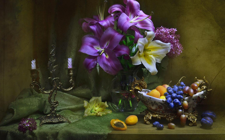 Цветы лилии натюрморт фото