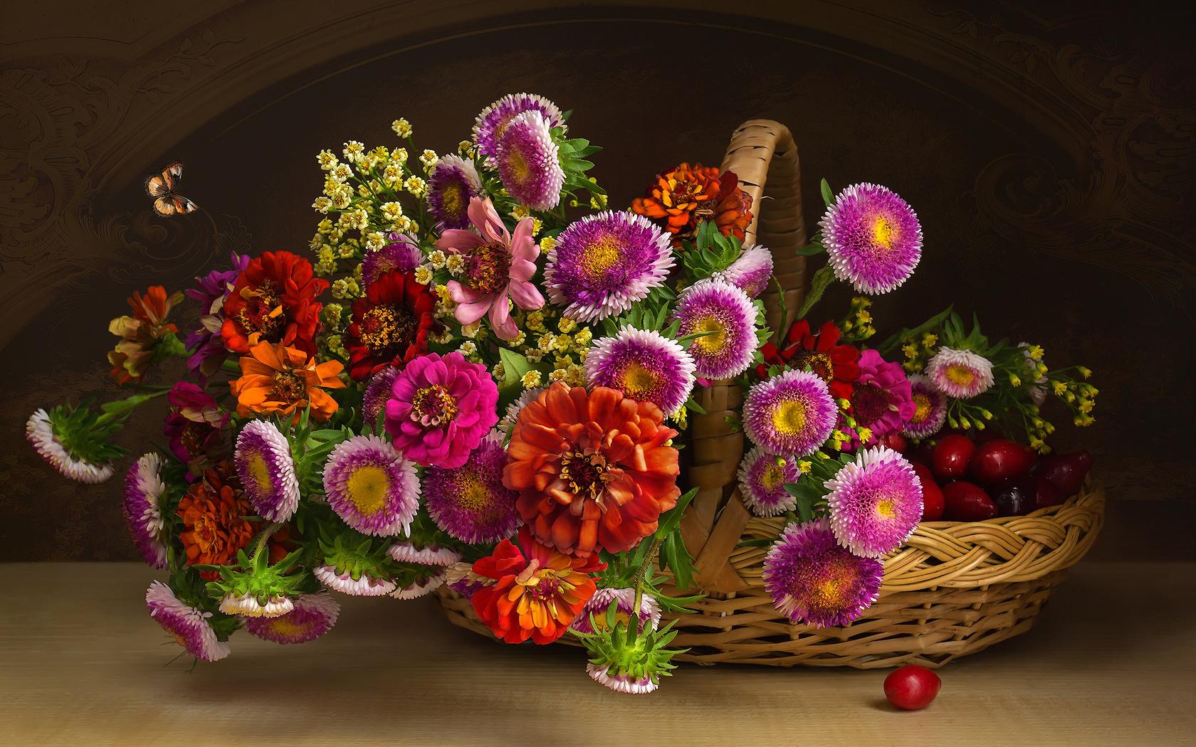 Поздравление друга картинка с цветами